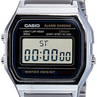 Casio Men's A158W-1 Stainless Steel Digital Watch