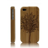 Best Handmade Carved Bamboo iPhone 4s Case - A Big Tree