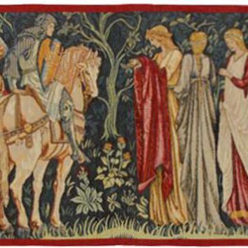 The Departure of the Knights French Tapestry