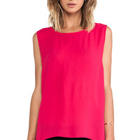 Backstage Kate Top in Fuchsia