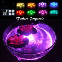 LED Vase Submersible led Lights-Battery set of 4 Powered led Accent Lights RGB w/ Remote for Wedding, Centerpiece, Halloween, Party Lights