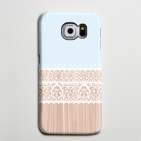 Blue White Lace Floral Samsung Galaxy S6 Edge Case,Galaxy S6 case,Samsung S5 Case S4 Case S3 Case,Samsung Galaxy Note 3 Case Note 2 Case