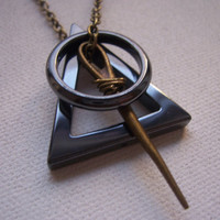 Deathly hallows necklace  symbol - Harry Potter