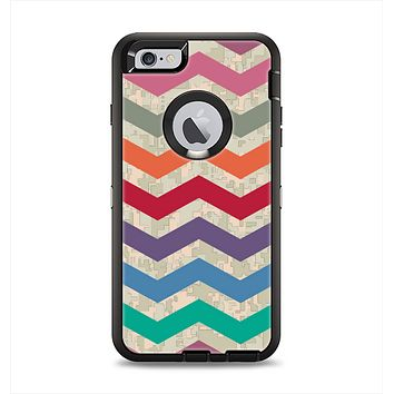 The Retro Chevron Pattern with Digital Camo Apple iPhone 6 Plus Otterbox Defender Case Skin Set