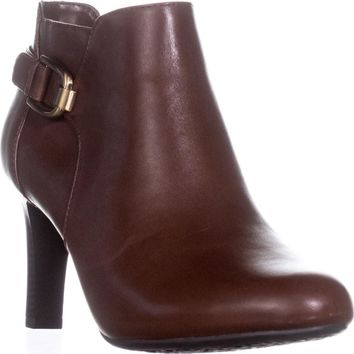 Bandolino Layita Dress Ankle Booties, Cognac, 9.5 US