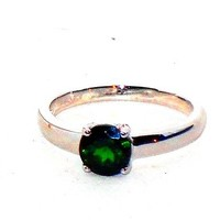 Green Russian Chrome Diopside Round Solitaire Ring 1.50 ctw size 8
