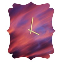 Shannon Clark Painted Sunset Quatrefoil Clock