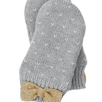 Sparkle Bow Mittens