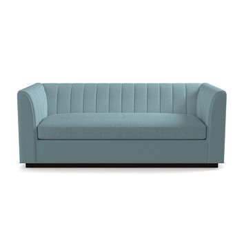 Nora Queen Size Sleeper Sofa From Kyle Schuneman :: Leg Finish: Espresso / Sleeper Option: Deluxe Innerspring Mattress
