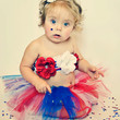 Baby Girl Tutu, 4th of July Tutu, Red White and Blue Tutu, Patriotic Tutu, Outfit of Choice
