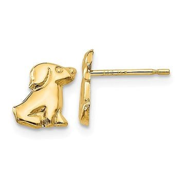 14K Yellow Gold Madi K Dog Post Earrings