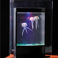 Jellyfish Aquarium with Color-Changing LED Lights | Fun with Nature