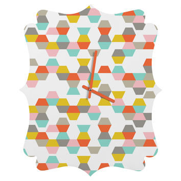 Heather Dutton Hex Code Quatrefoil Clock