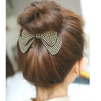 Fashion Women Hair Accessories New Arrival Bow Hairpins,Designer All Match Hair Barrettes, Girl'S Trendy Hairggrips
