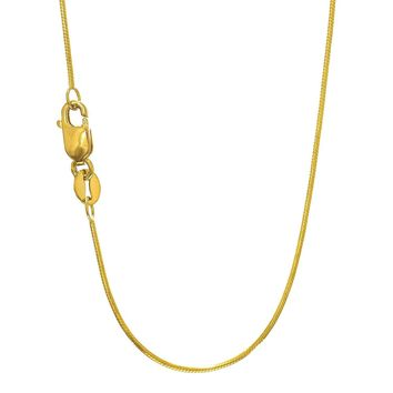 10k Yellow Gold Octagonal Snake Chain Necklace, 0.9mm, 20""