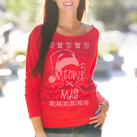 Meowy X Mas Ugly Christmas Sweater
