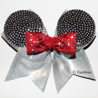 Absolutely AMAZING Rhinestone Allstar Mickey Bow - Disney - Funbows Original