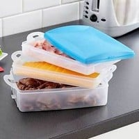 3 Tier Cold Cut Lockable Storage Kitchen Container Set - Lunchmeat Storage NEW