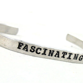 Fascinating - Hand Stamped Star Trek Spock Inspired 1/4-inch Bracelet