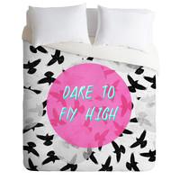 Elisabeth Fredriksson Dare To Fly High Duvet Cover