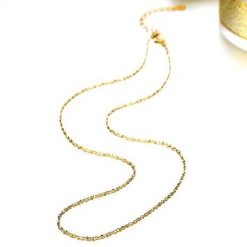 1PC Rose Gold  Chain Necklace Golden Tone 45cm