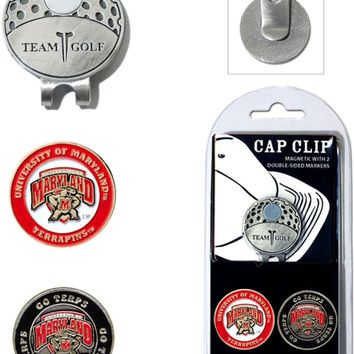 NCAA Maryland Terrapins Hat Clip & 2 Magnetic Golf Ball Markers