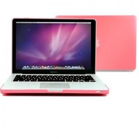 """GMYLE(R) Pink Frosted Matte Rubber Coated Rubberized See Thru Hard Snap On Case Cover for Apple 13.3"""" inches Macbook Pro (with 1 Year Warranty from GMYLE)(not fit for 13 MacBook Pro with Retina display)"""
