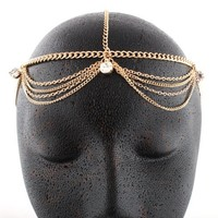 Gold Metal Head Chain with Studs | AihaZone Store