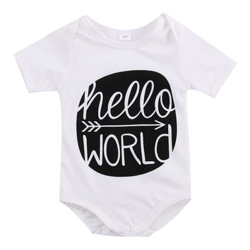 Baby Romper 2016 Short sleeve Baby Clothing Newborn Baby girl Clothes Baby Overall Clothes