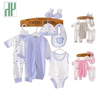 HH 8PCS Baby clothing tracksuit newborn baby infant boy clothes children cloth suit new born toddler girl baby clothing sets