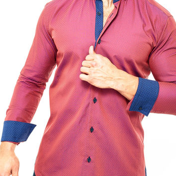 Maceoo shirts - Vogue Red Iridescent Square
