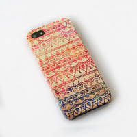 tribal aztec wood iphone 5 case ,iphone 5 case,iphone 5 cover , hard plastic case
