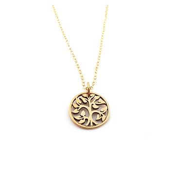 Tree of Life Gold Filled Necklace