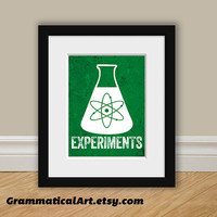 Science Beaker Chemistry Experiments Print - Great Science Gift