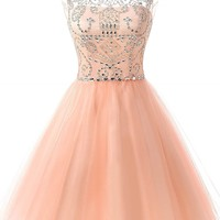 Topwedding Women's Short Tulle Beading Homecoming Dresses 2018 Prom Party Gowns