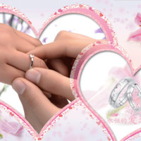 Heart Love forever 925 silver wedding ring for women and men his her promise couple ring set for lovers Engagement Ring resizing