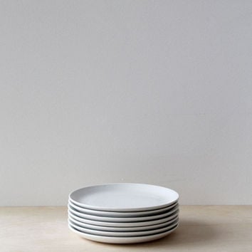Anna des Tombe & Ed Porter Wedding Registry | Father Rabbit | Ceramic Side Plate | Rain Grey