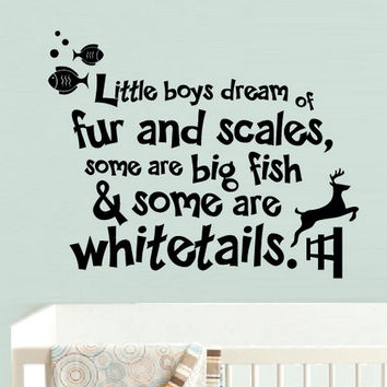 rvz865 Wall Vinyl Sticker Bedroom Decal Words Sign Quote little Boys Fur Scales