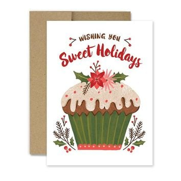 Sweet Holiday Cupcake - Holiday Card