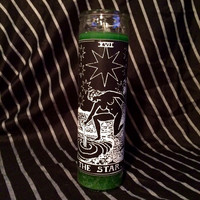 the Star - inverted tarot card prayer candle