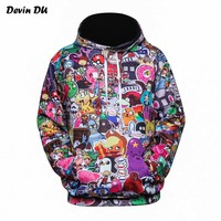 Devin Du Anime Hoodies Men/Women 3d Sweatshirts With Hat Hoody Unisex Anime Cartoon Hooded Hoodeis Fashion Brand Hoodies