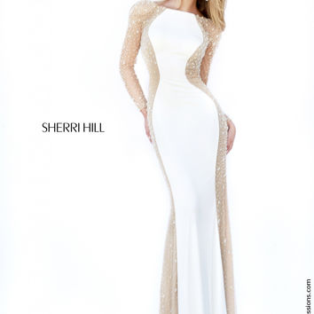 Sherri Hill Long Sleeve Prom Dress 32096