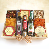 Meat & Cheese Wooden Gift Crate-Ultimate