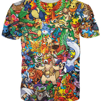 8Bit Pokemon Fusion T-Shirt