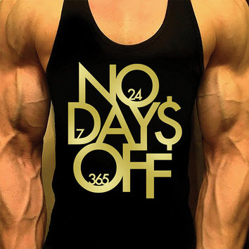 No Days Off. Mens Workout Tank Top. Fitness Tank. Racerback Tank. Muscle Tank. Mens Fitness. Gym Tank Top. Workout Shirt. Fitness Apparel