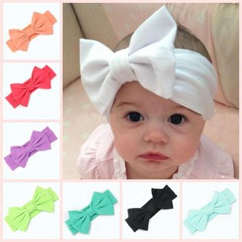 Baby Kids Girl Child Toddler Infant Flower Floral Bow Hairband Turban Knot Headband