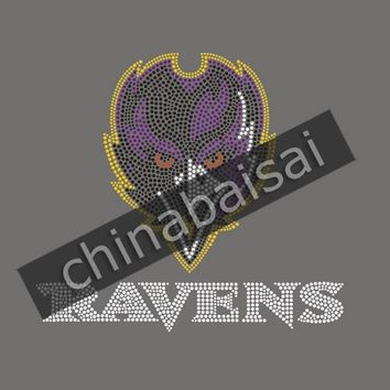 Baltimore Ravens Rhinestud Transfers Iron On Custom Design Available