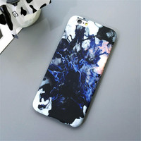 Marble Stone Slim Matte Hard Plastic Phone Back Cover Case