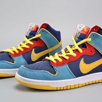 Nike Dunk High Pro Sb Mr Pacman Blue Frost/midwest Gold Skate Shoes 305050-471 - Beauty Ticks