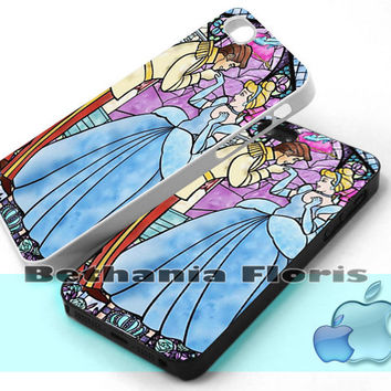 Cinderella-and-prince - Print on hardplastic for iPhone 4/4s and 5 case, Samsung Galaxy S3/S4 case.